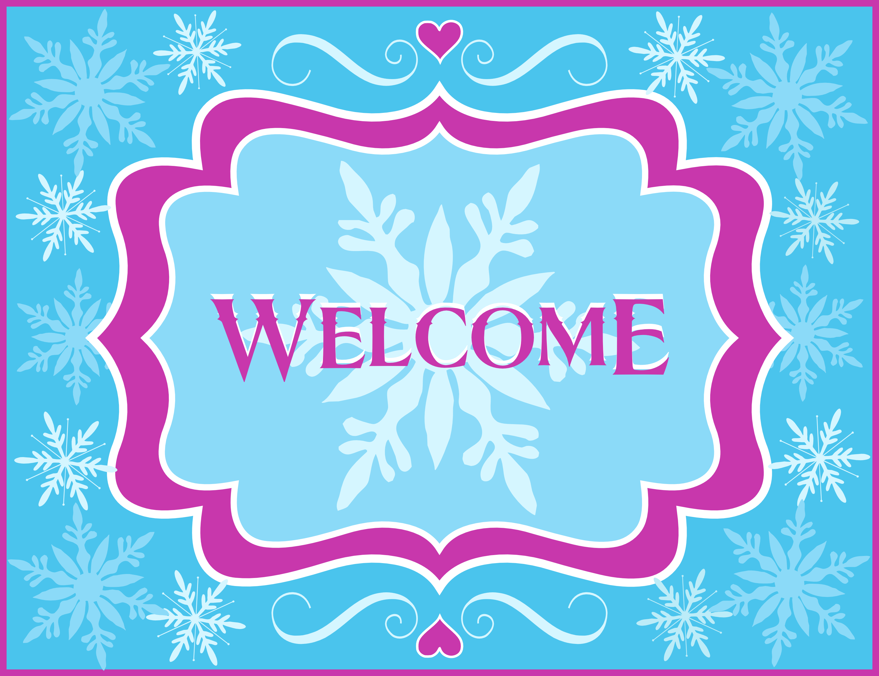 Free Frozen Party Printables From Printabelle   Catch My Party - Free Printable Welcome Cards