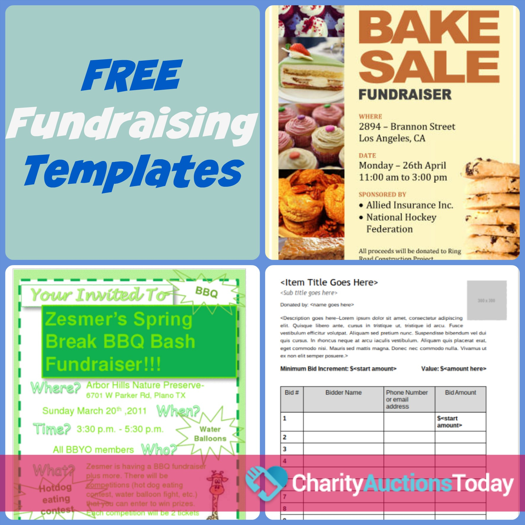 Free Fundraiser Flyer | Charity Auctions Today - Create Free Printable Flyer