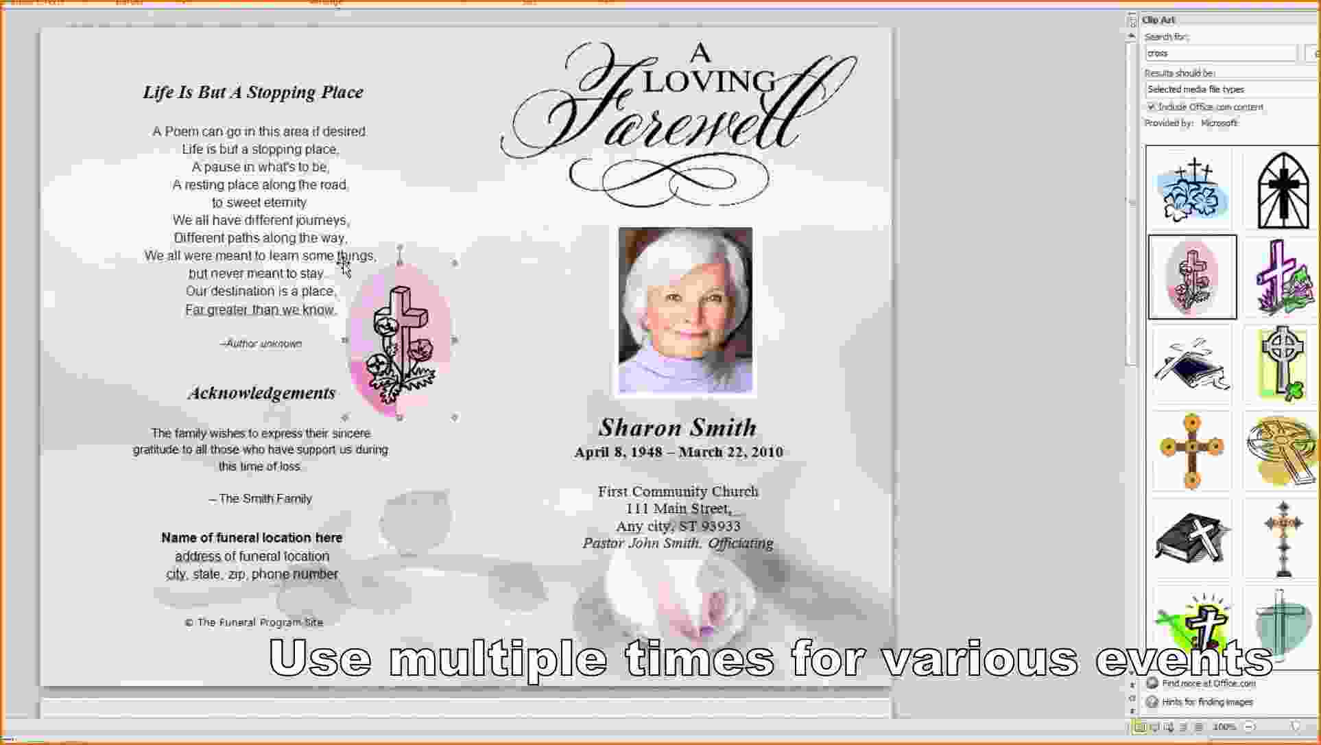 Free Funeral Program Template Microsoft Word Maxresdefault New - Free Printable Memorial Card Template