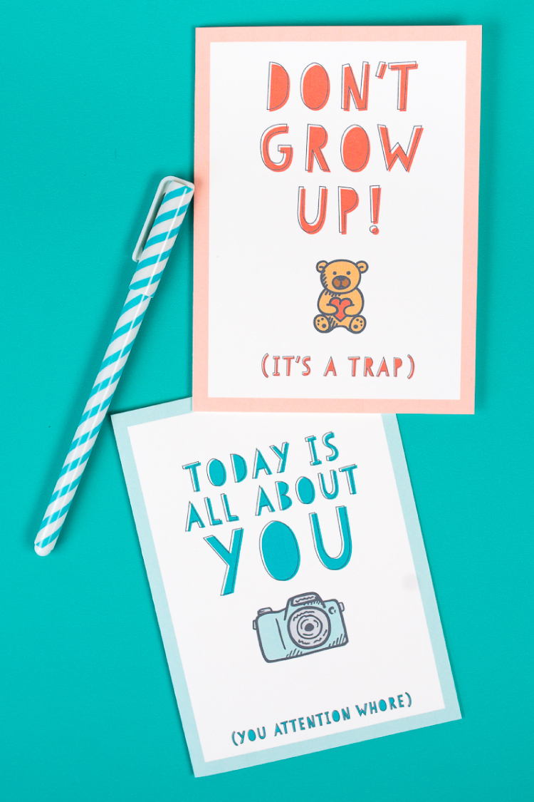 Free Funny Printable Birthday Cards For Adults - Eight Designs! - Free Printable Funny Birthday Cards For Dad