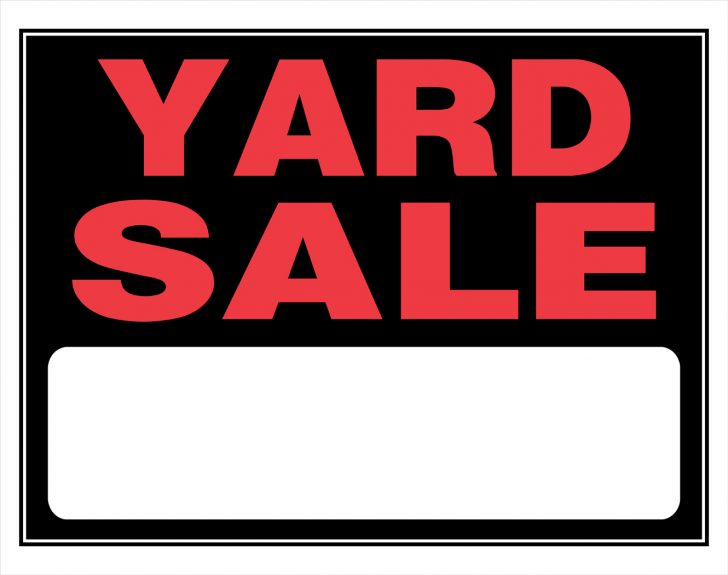 Free Printable Yard Sale Signs