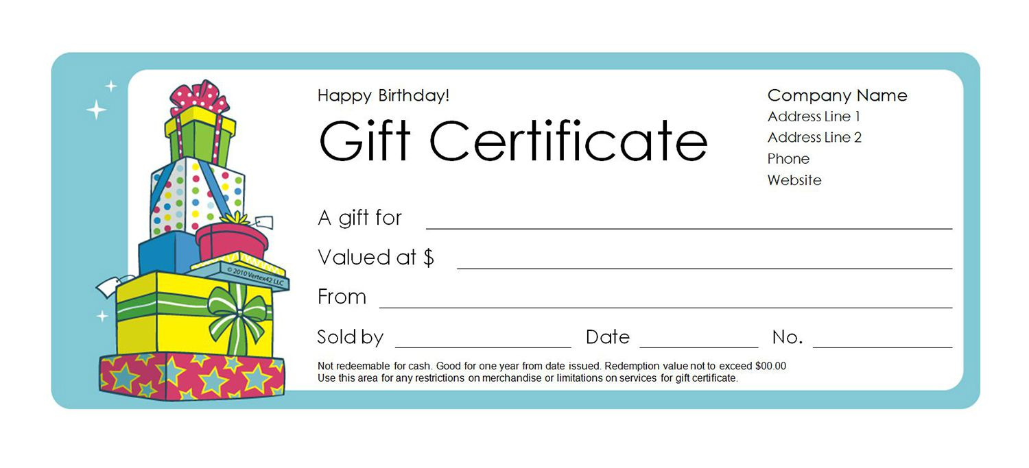 Free Gift Certificate Templates You Can Customize - Free Printable Blank Birthday Coupons