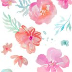 Free Girly Graphics And Watercolor Clip Art  Angie Makes   Free Printable Clip Art Flowers