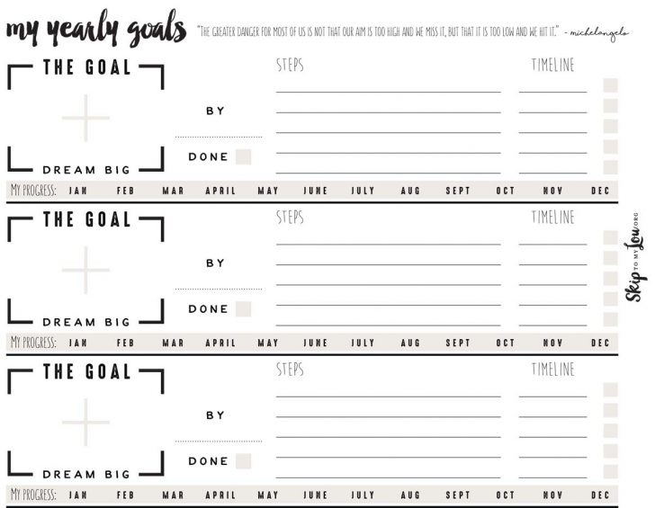 Free Printable Goal Setting Worksheets For Students