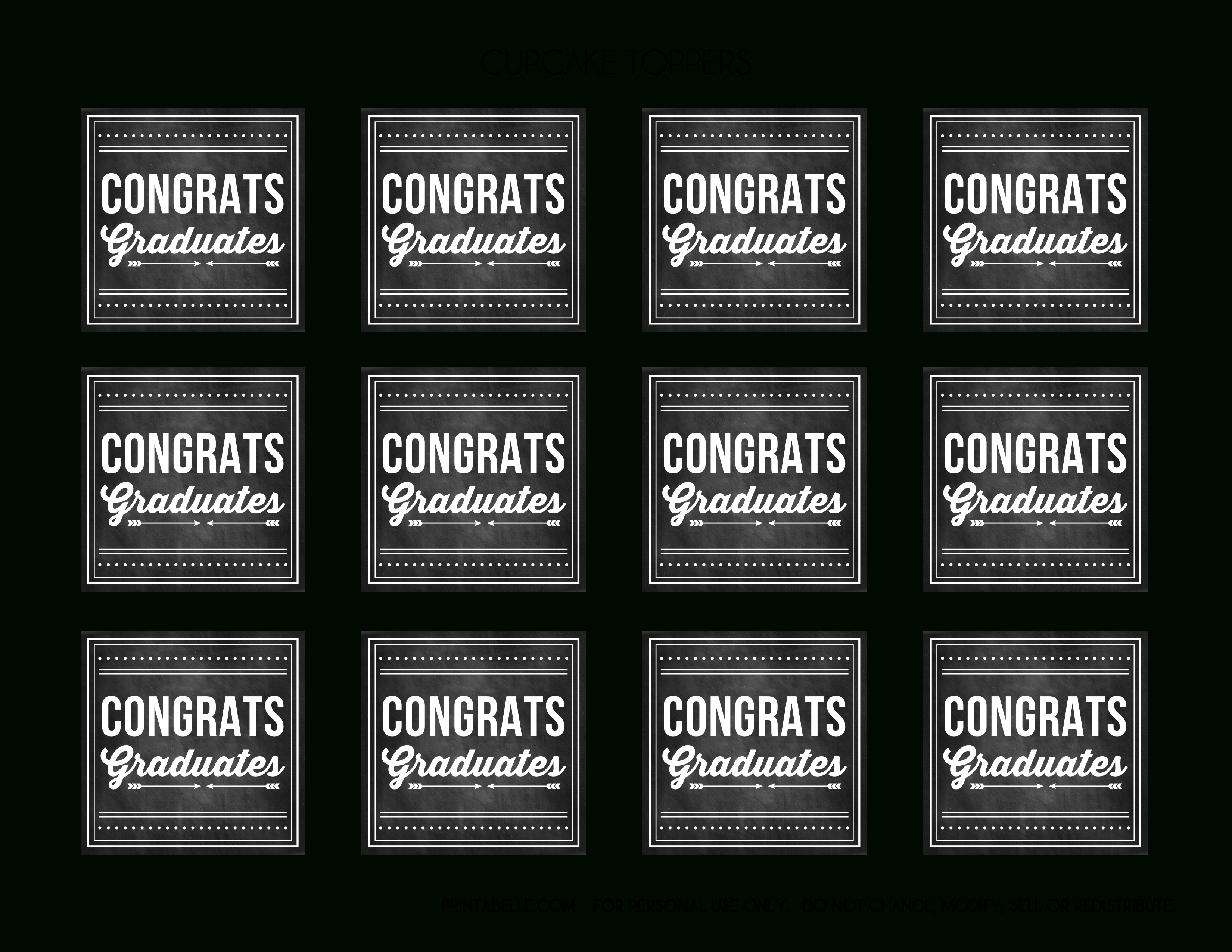 Free Graduation Chalkboard Party Printables From Printabelle   Catch - Free Printable Graduation Address Labels