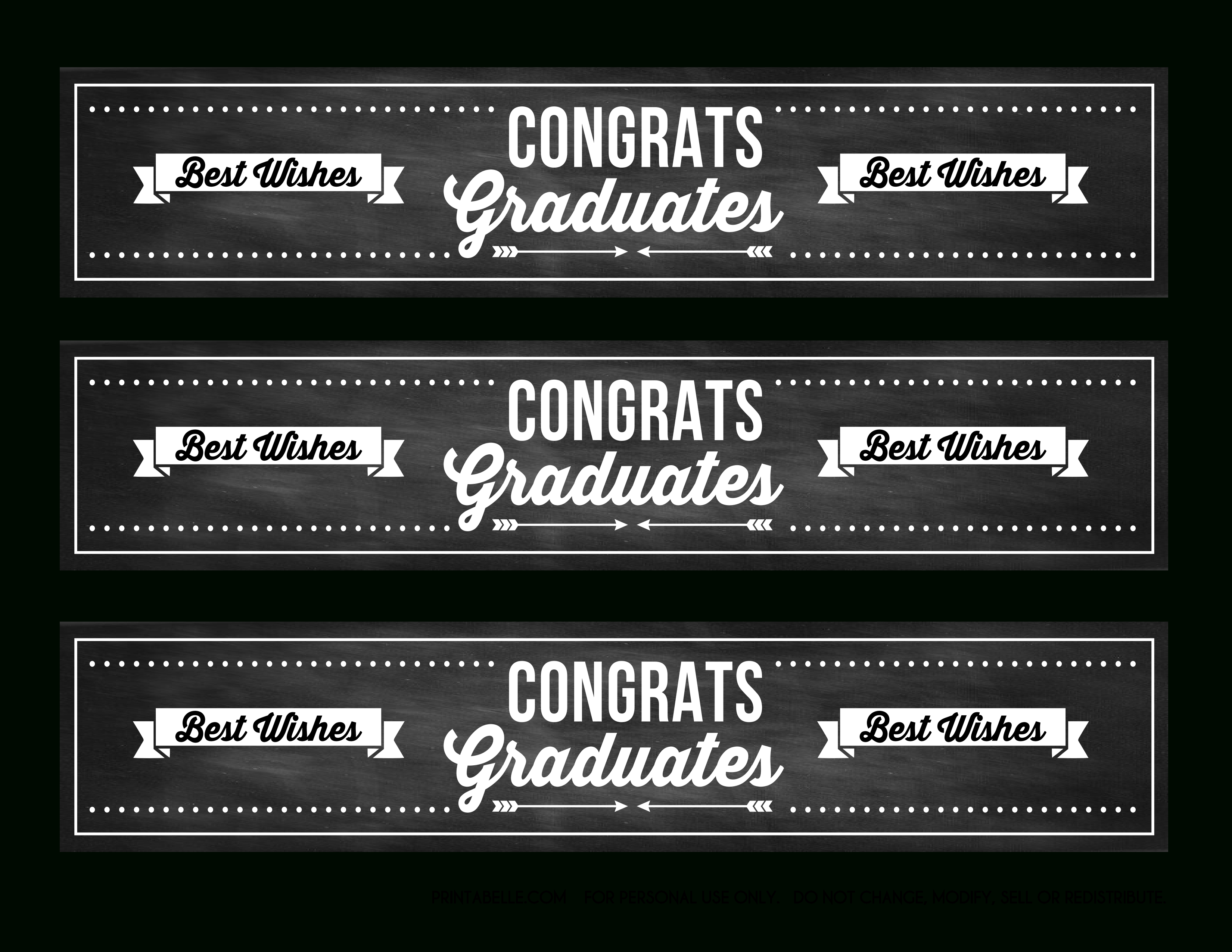Free Graduation Chalkboard Party Printables From Printabelle | Catch - Free Printable Graduation Party Invitations 2014