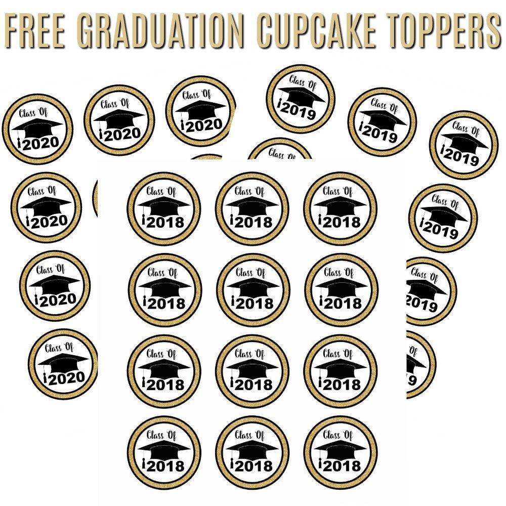 Free Graduation Cupcake Toppers - Free Printable Graduation Cupcake Toppers