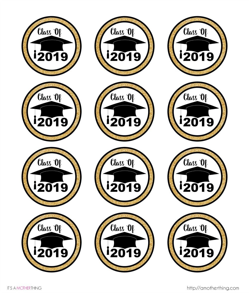 Free Graduation Themed Printable Cupcake Toppers | Grads | Pinterest - Free Printable Graduation Cupcake Toppers