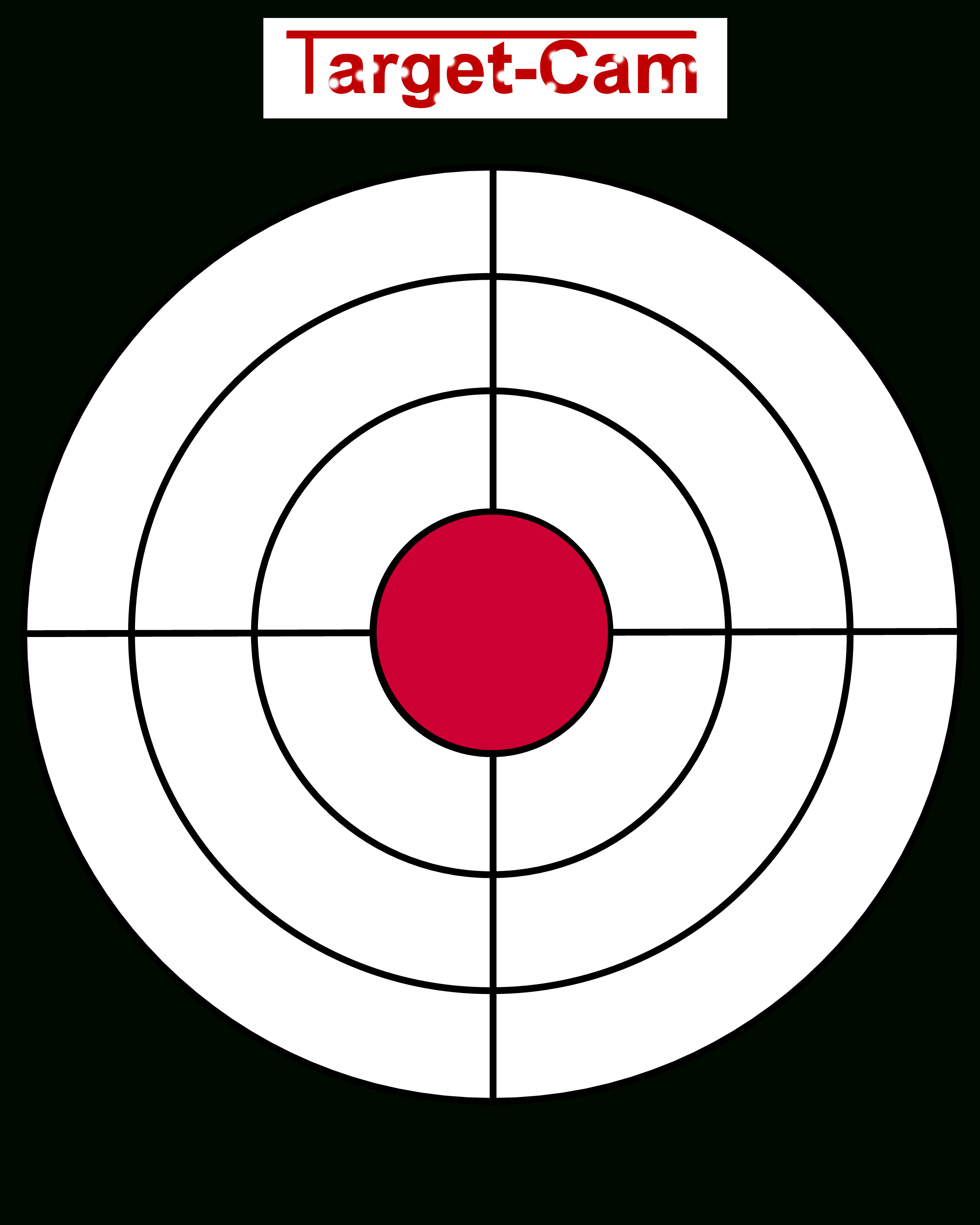 """Free Gun Targets To Print   New """"target-Cam"""" Rifle And Hand Gun - Free Printable Targets For Shooting Practice"""