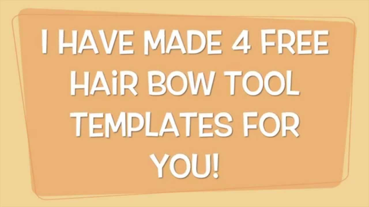 Free Hair Bow Tool Templates - Youtube - Cheer Bow Template Printable Free