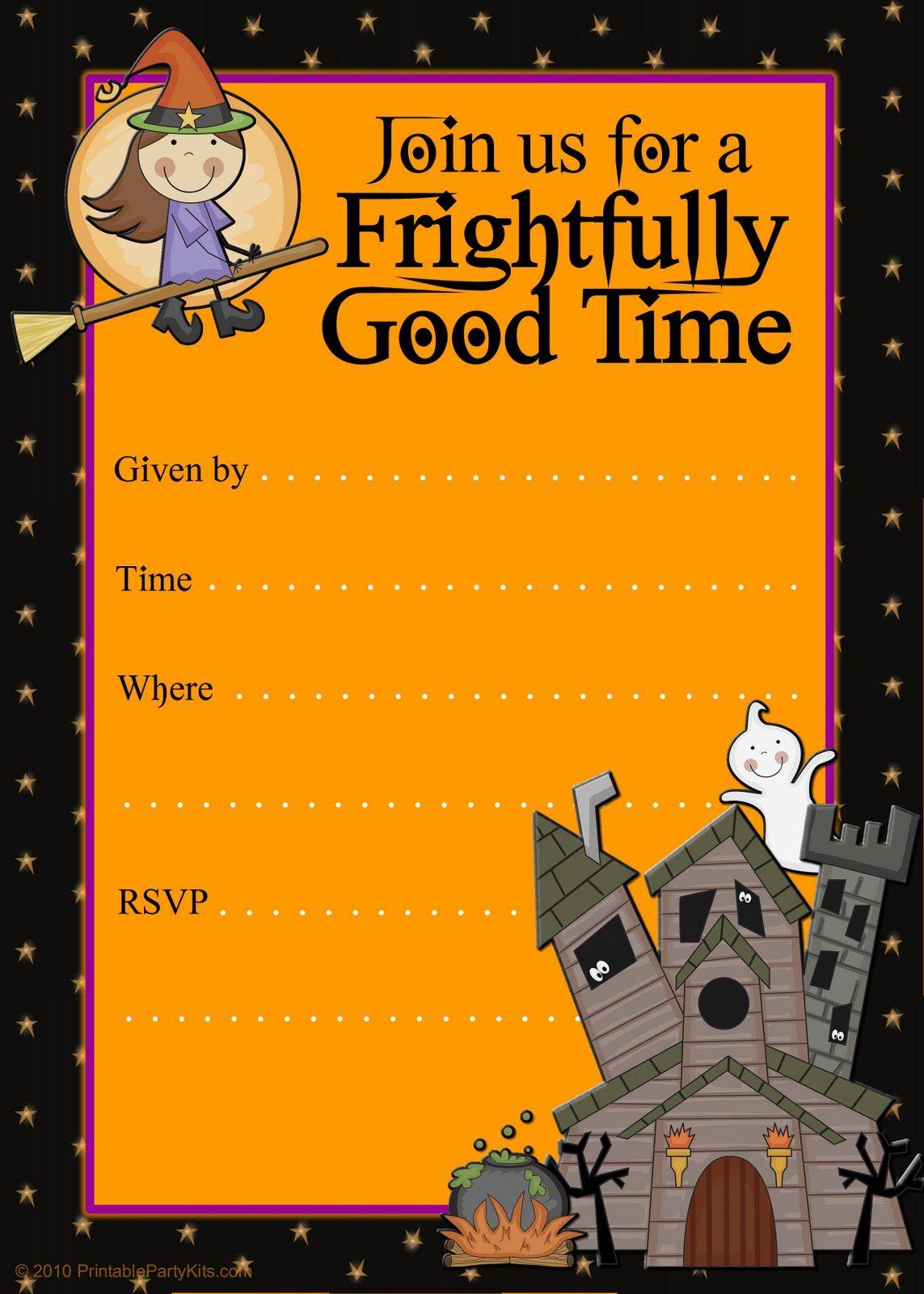 Free Halloween Flyer Invitations Printable | Food | Pinterest - Free Printable Halloween Invitations For Adults