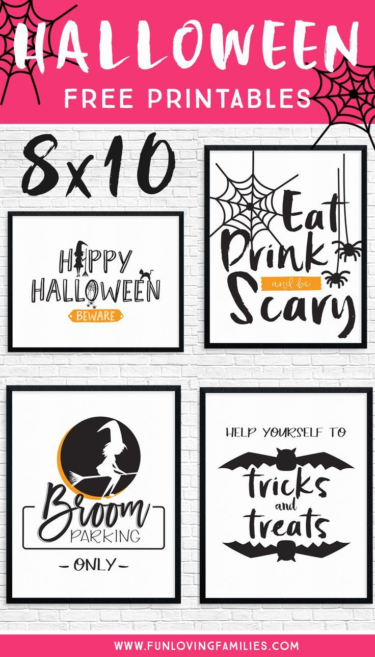 Free Halloween Party Printables | Halloween | Pinterest | Halloween - Free Printable Halloween Decorations Scary