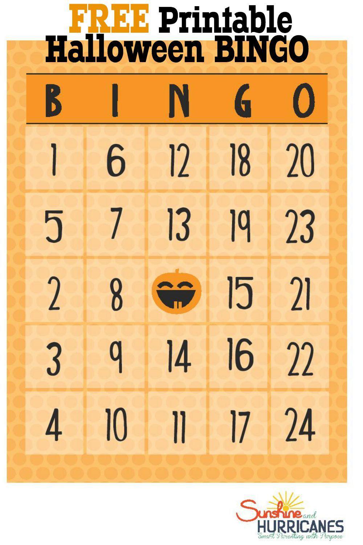 Free Halloween Printables - Bingo | Bloggers' Fun Family Projects - Free Printable Bingo Chips