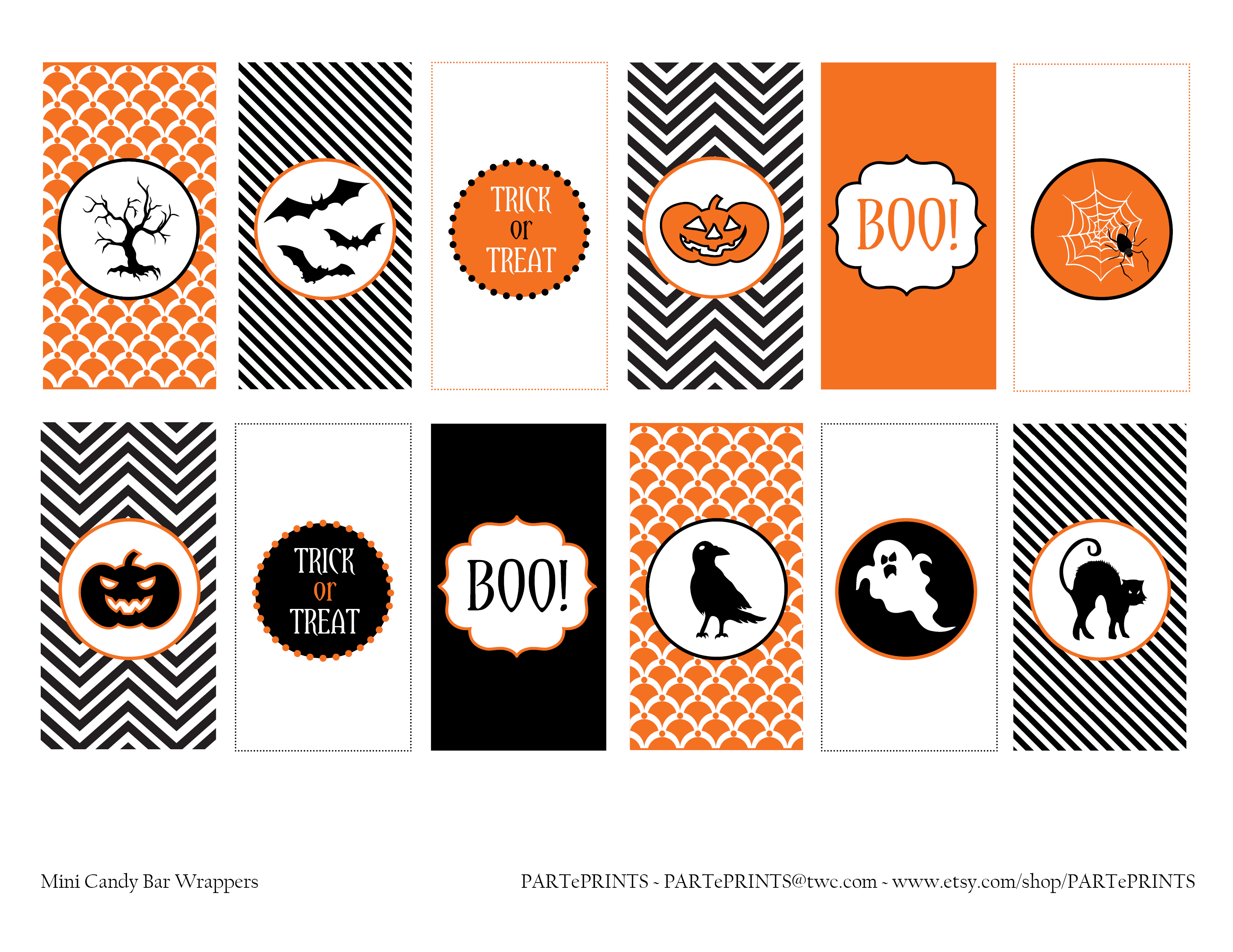 Free Halloween Printables From Parteprints | Catch My Party - Free Printable Halloween Party Decorations