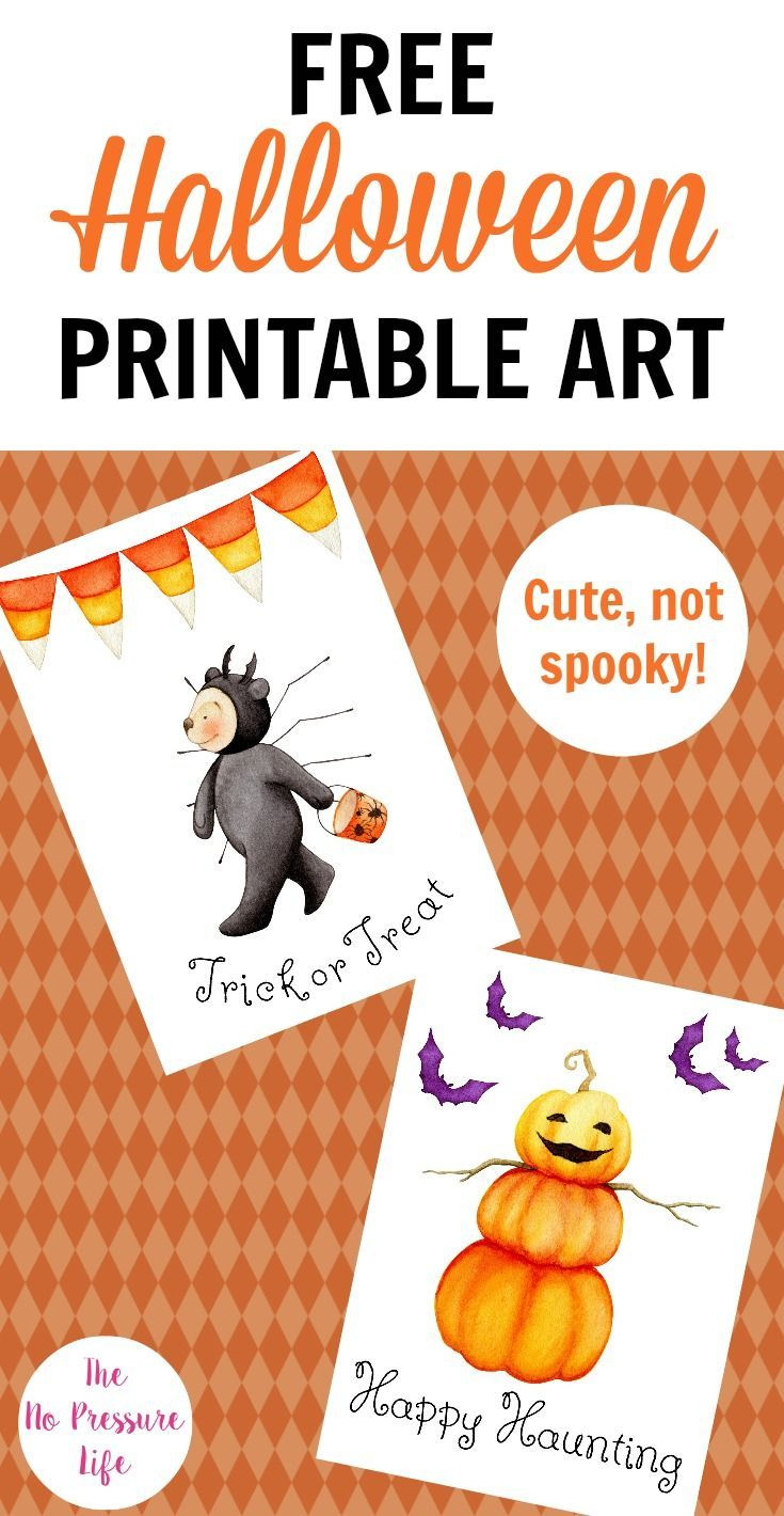 Free Halloween Printables That Are Cute, Not Scary! | Free - Free Printable Halloween Decorations Scary