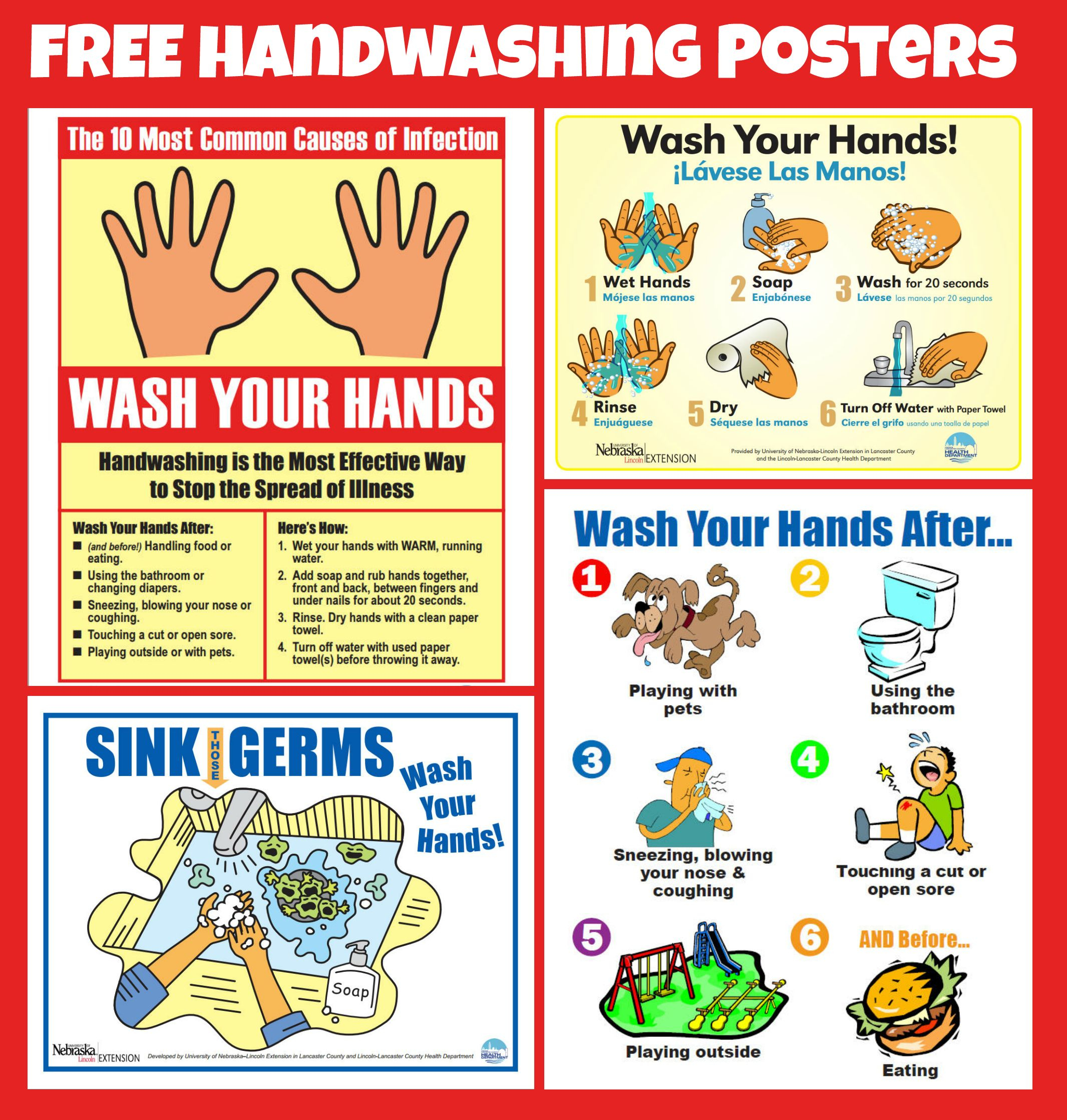 Free #handwashing Posters   Home Economics   Pinterest   Hand - Free Printable Hand Washing Posters