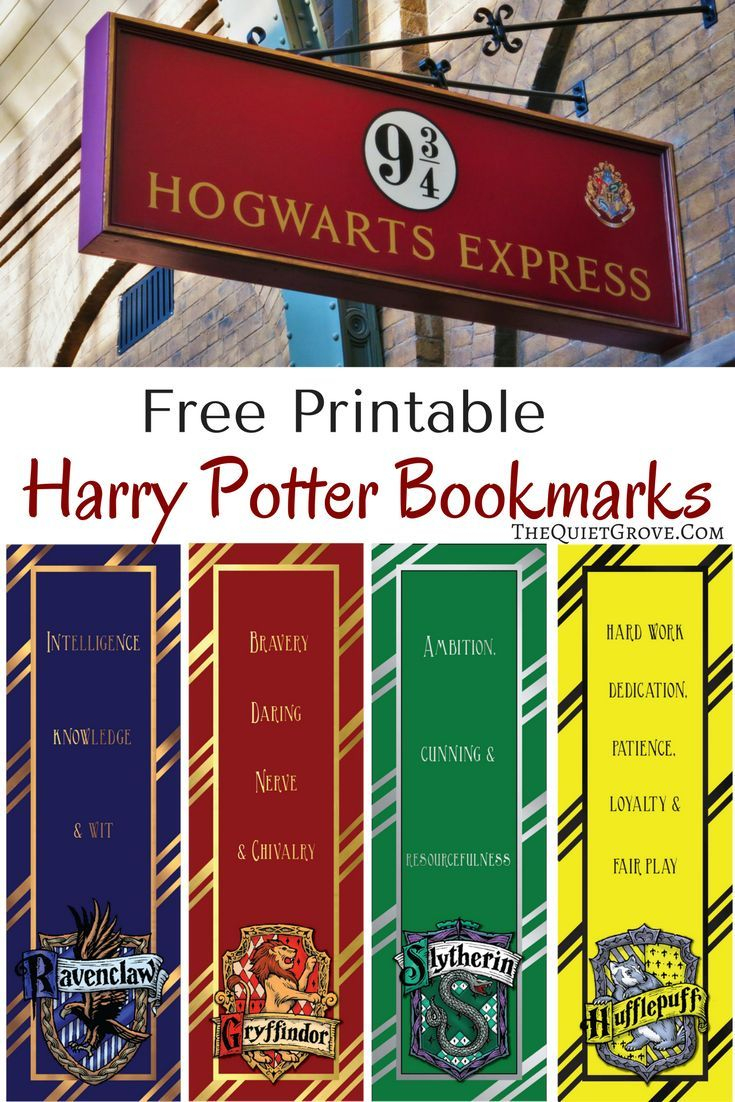 Free Harry Potter Printable Bookmarks | Fabnfree // Freebie Group - Free Printable Harry Potter Pictures