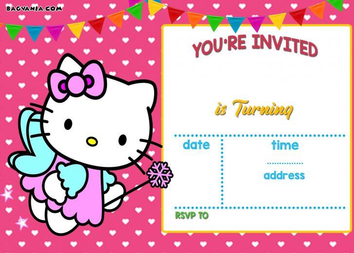 Free Printable Hello Kitty Baby Shower Invitations