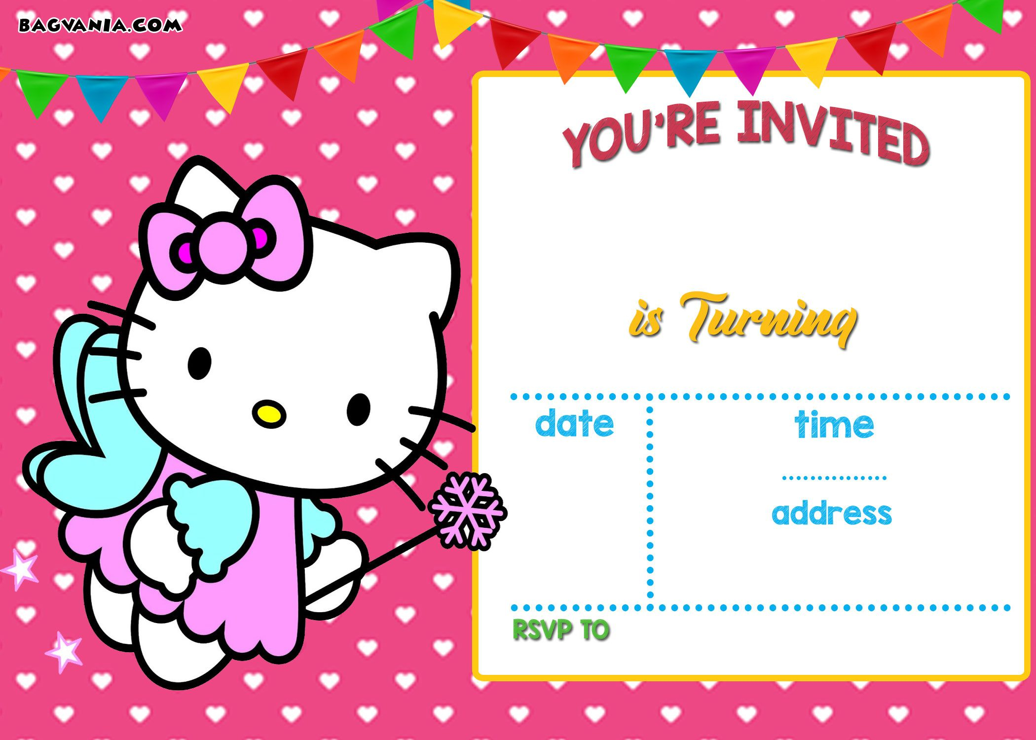Free Hello Kitty Invitation | Free Printable Birthday Invitation - Free Printable Hello Kitty Baby Shower Invitations