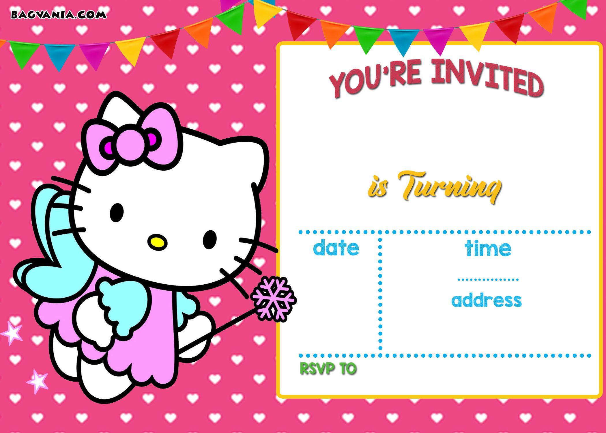 Free Hello Kitty Invitation | Free Printable Birthday Invitation - Hello Kitty Free Printable Invitations For Birthday