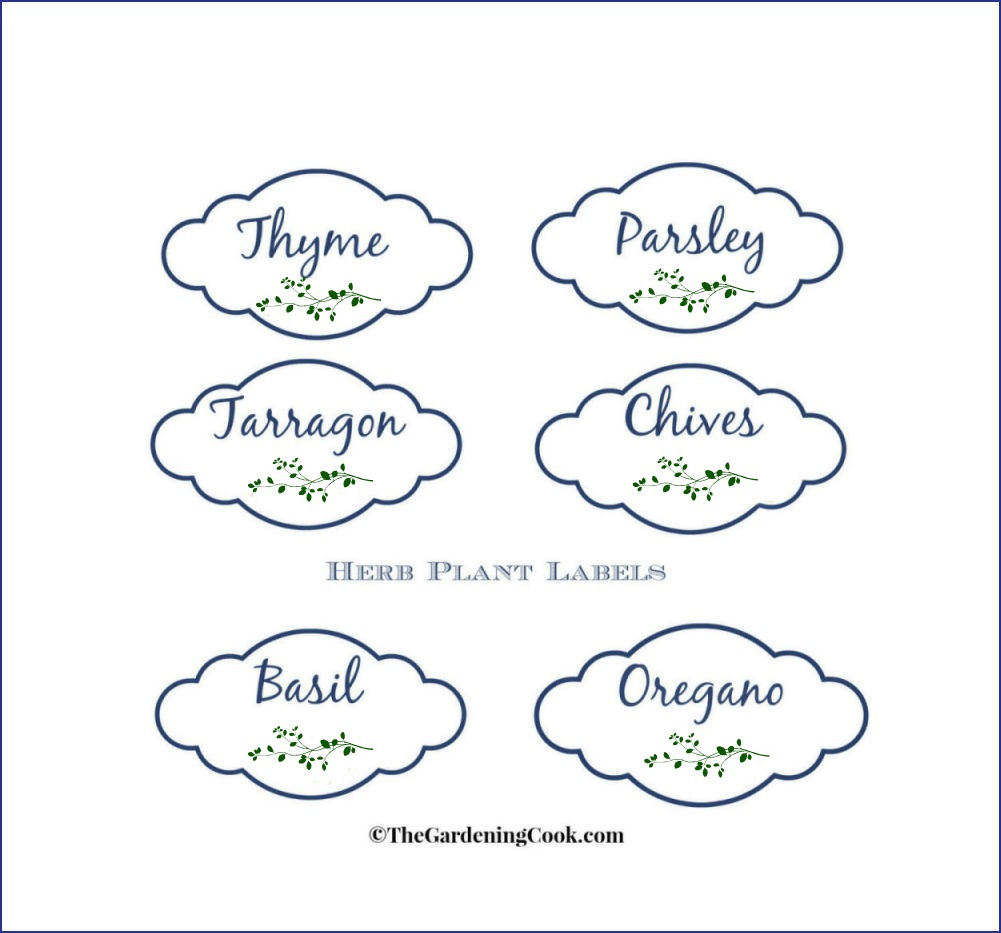 Free Herb Plant Labels For Mason Jars And Pots - The Gardening Cook - Free Printable Plant Labels