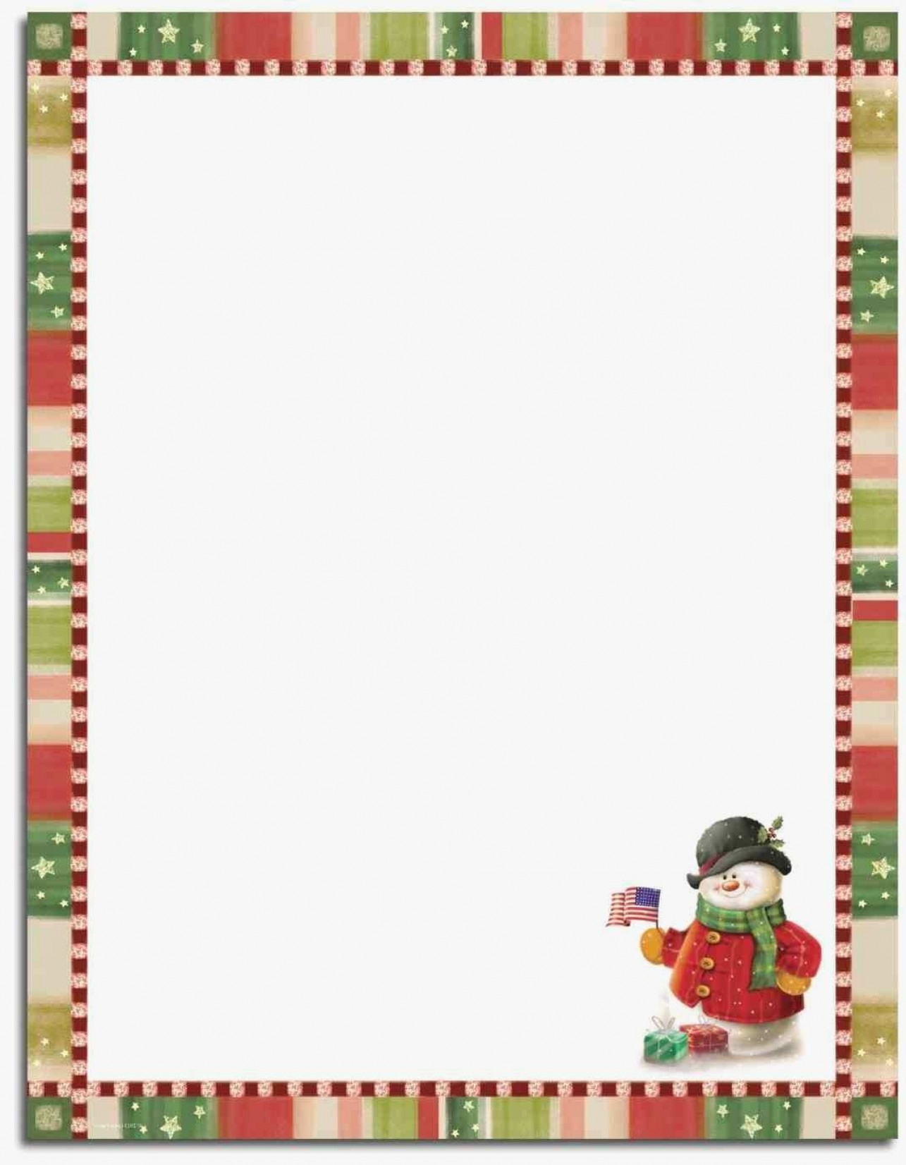 Free Holiday Stationery Templates Beautiful 76 Free Christmas - Free Printable Snowman Stationery