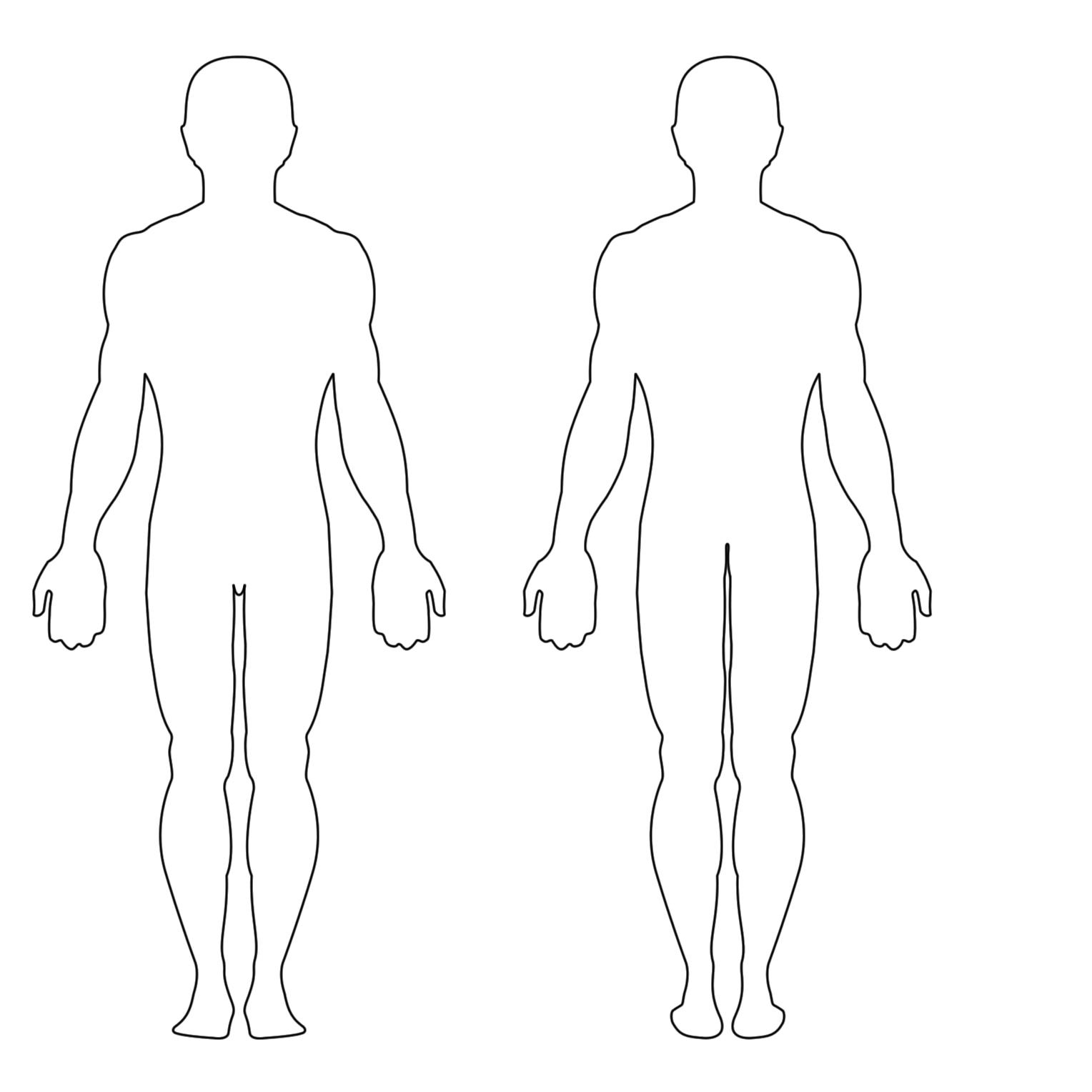 Free Human Body Outline Printable, Download Free Clip Art, Free Clip - Free Printable Human Body Template