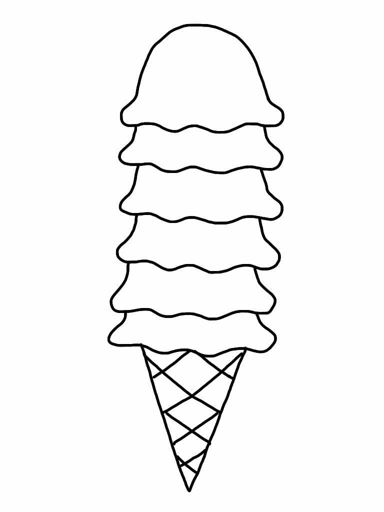 Free Ice Cream Cone Coloring Page, Download Free Clip Art, Free Clip - Ice Cream Cone Template Free Printable