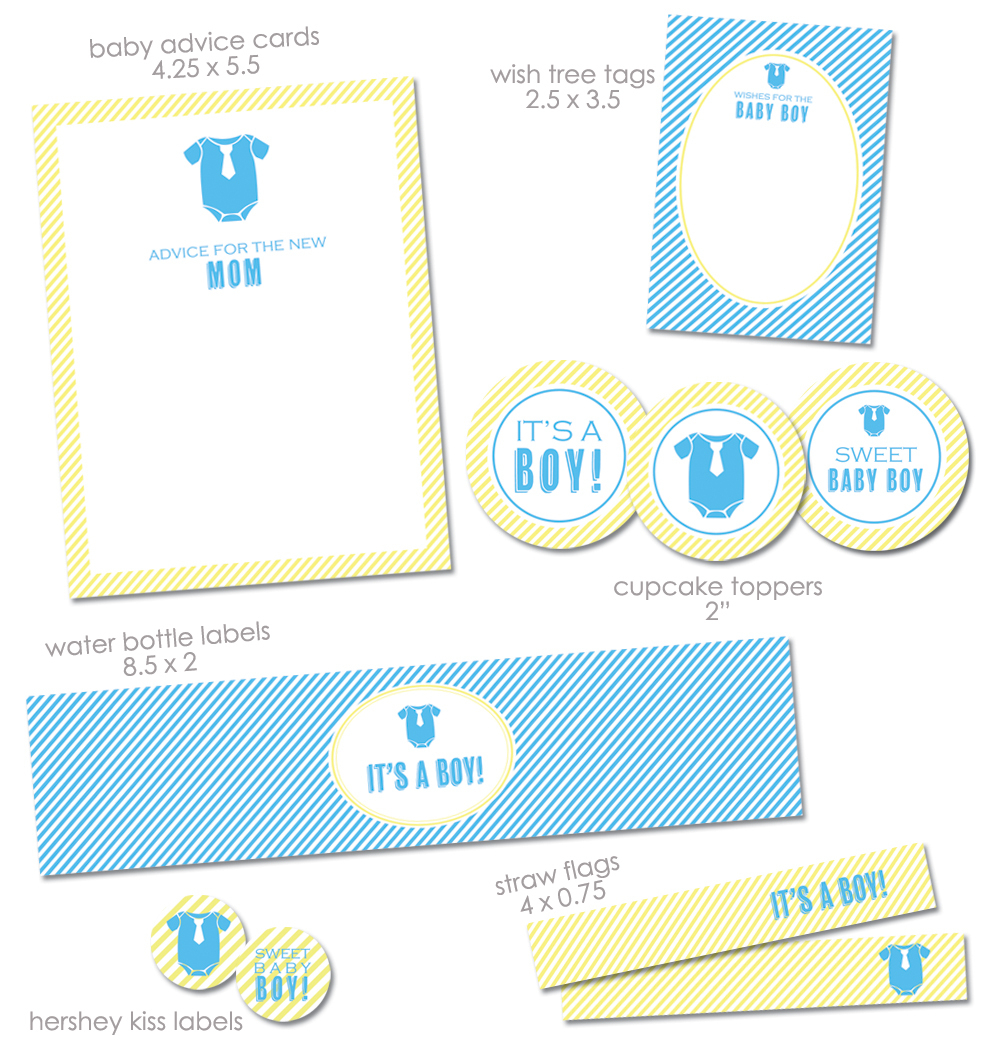 """Free """"it's A Boy"""" Baby Shower Printables From Green Apple Paperie - Baby Invitations Printable Free"""