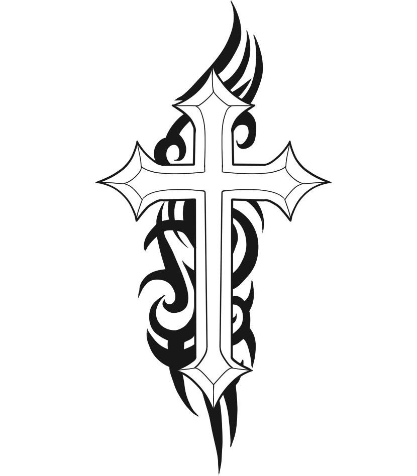 Free Jesus Carrying The Cross Tattoo, Download Free Clip Art, Free - Free Printable Cross Tattoo Designs