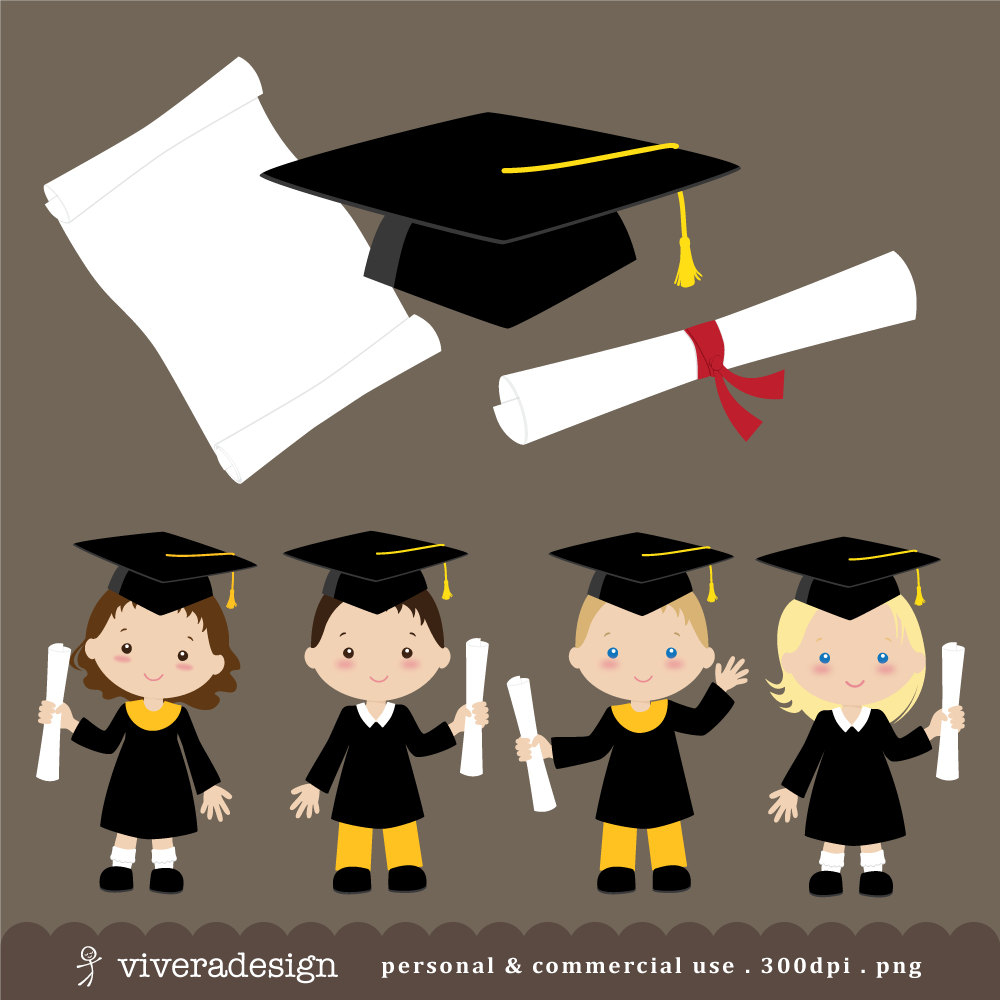 Free Kids Graduation Clipart, Download Free Clip Art, Free Clip Art - Free Printable Kindergarten Graduation Clipart