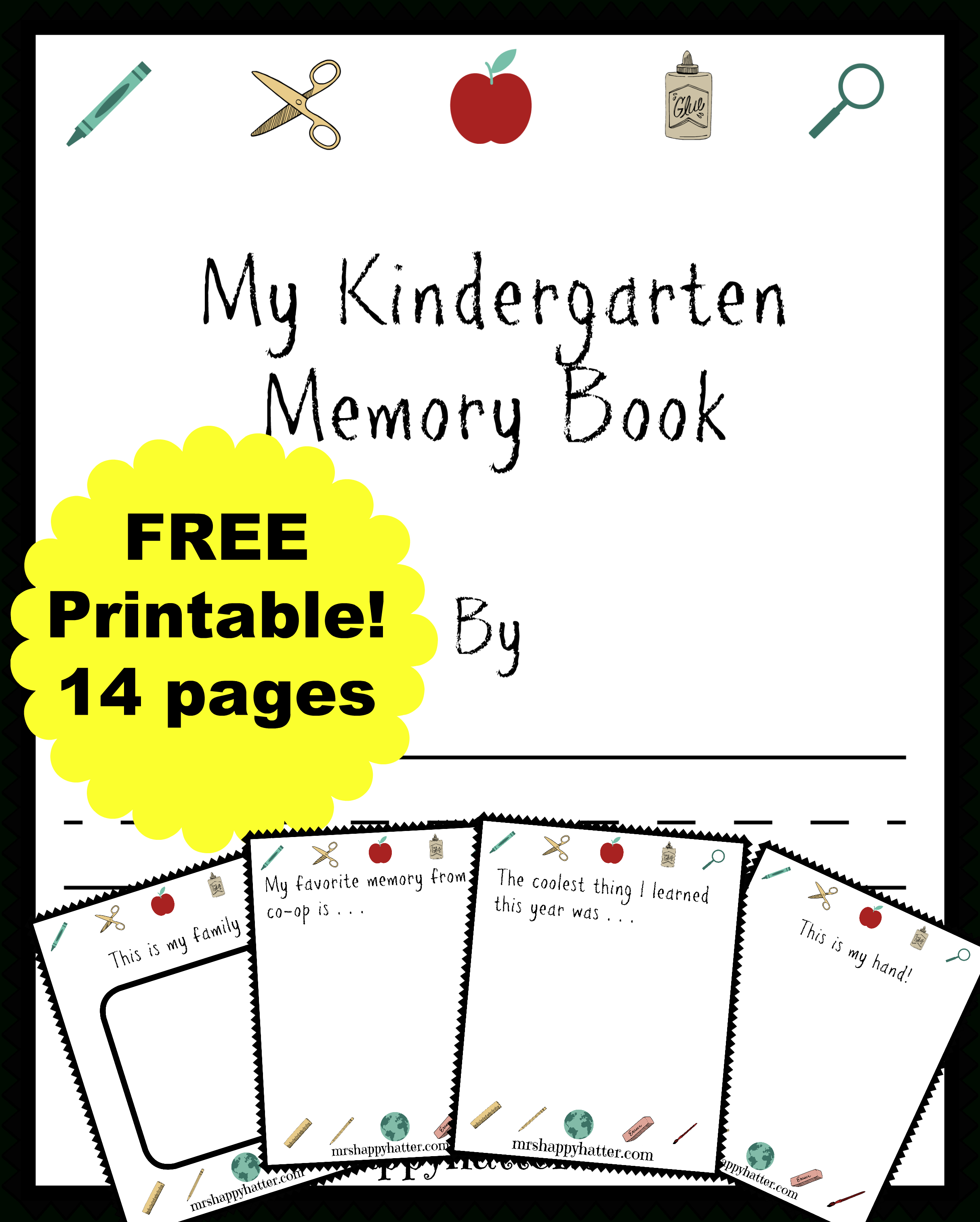 Free Kindergarten Memory Book (Homeschool Edition | Best Of Mrs - Free Printable Preschool Memory Book
