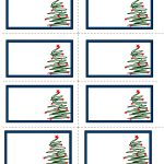 Free Labels Printable | Free Printable Christmas Labels With Trees   Christmas Labels Free Printable Templates