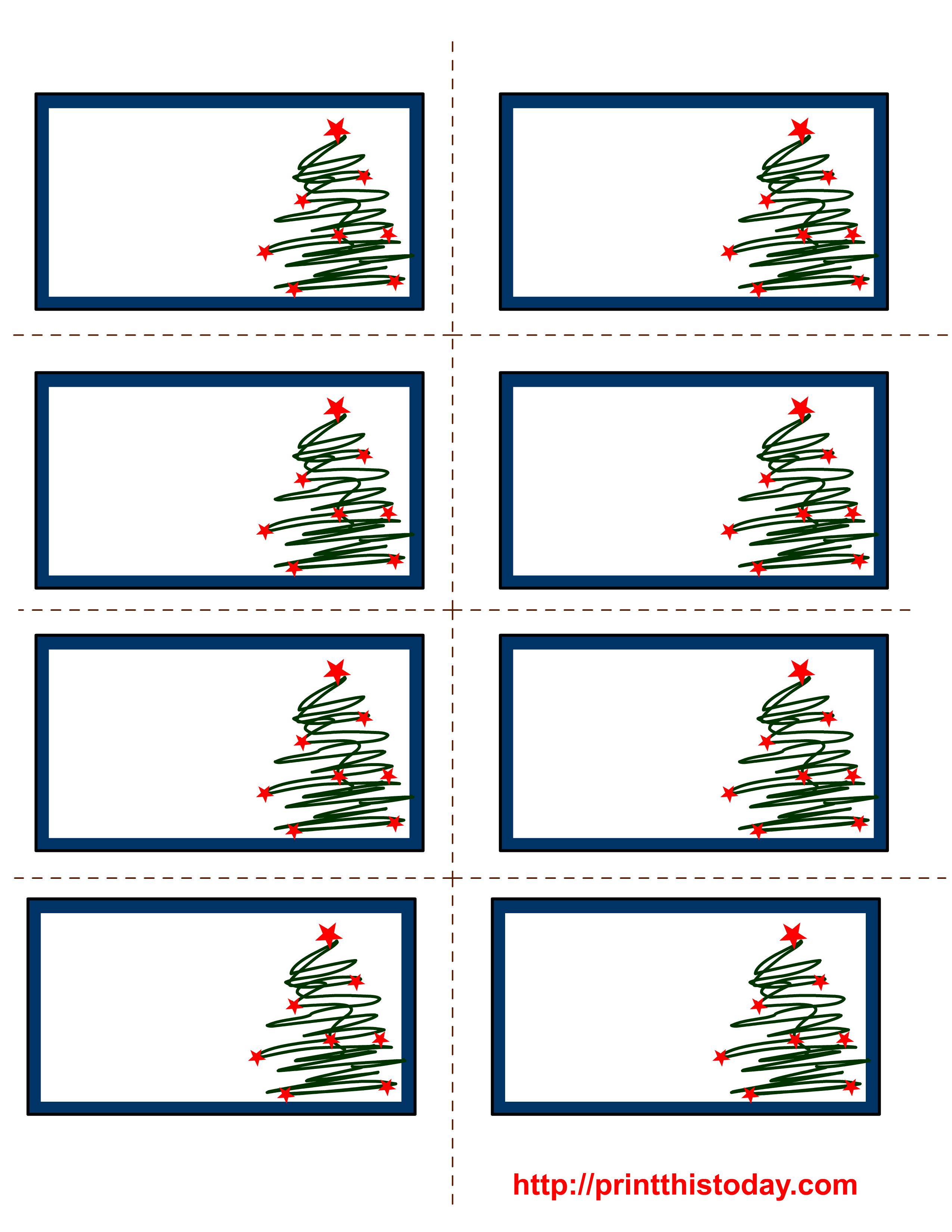Free Labels Printable | Free Printable Christmas Labels With Trees - Free Printable Holiday Labels