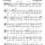 Free Lead Sheet – The Star Spangled Banner In 2019 | Free Sheet   Free Printable Piano Sheet Music For The Star Spangled Banner