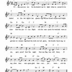 Free Lead Sheet – The Star Spangled Banner | Via Kids Song | Music   Free Printable Piano Sheet Music For The Star Spangled Banner