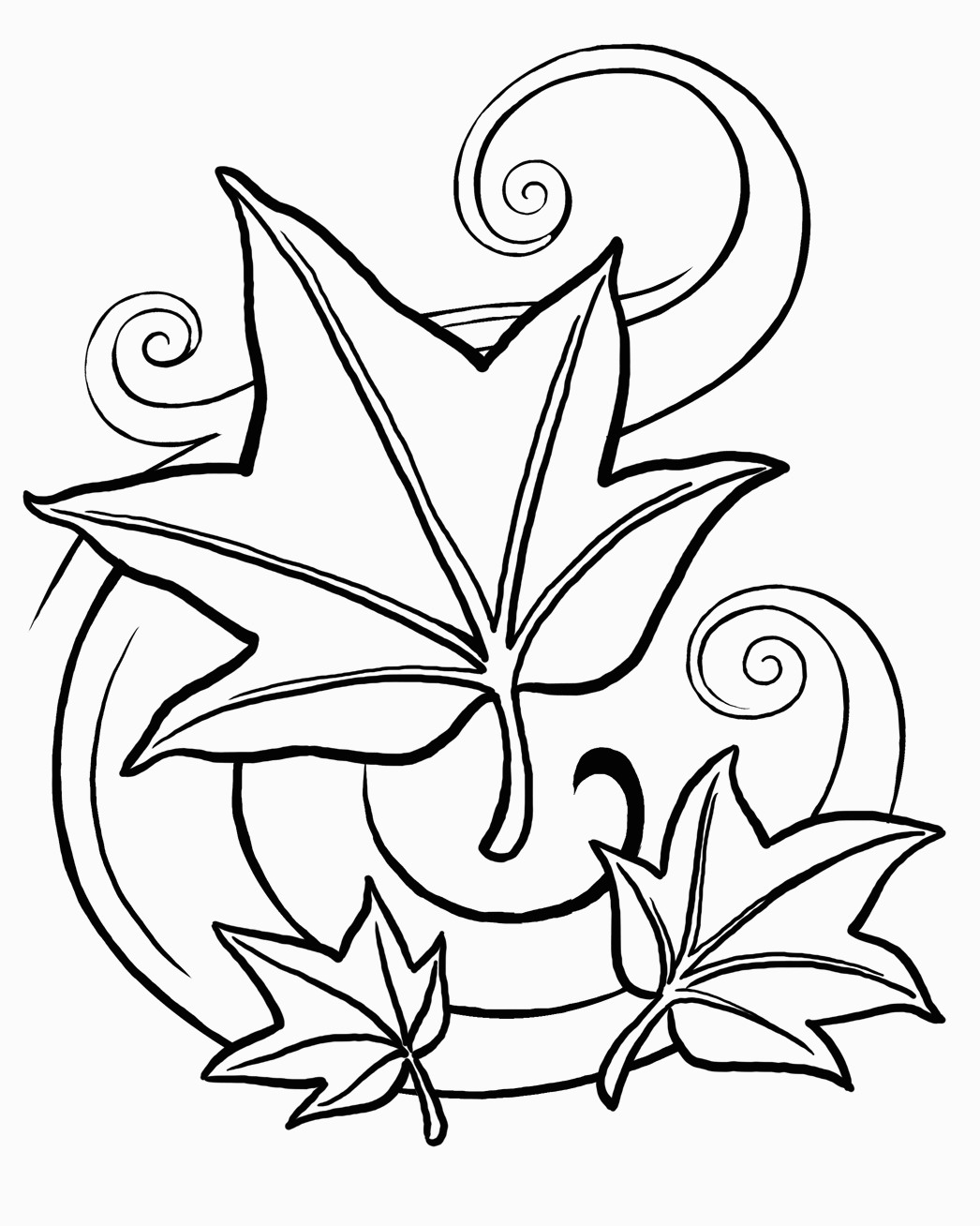 Free Leaf Coloring Pages | Printable Coloring Pages - Free Printable Leaf Coloring Pages