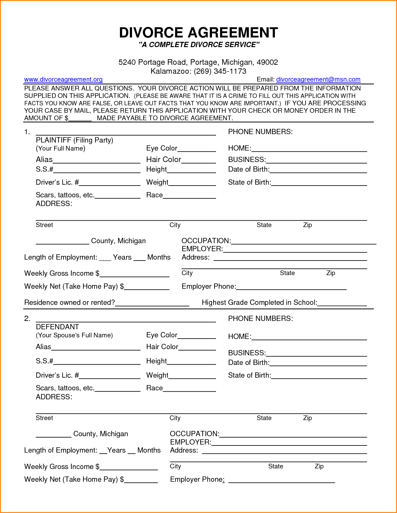 Free Legal Forms Virginia Divorce Sample Service Resume Findforms - Free Printable Divorce Forms Texas