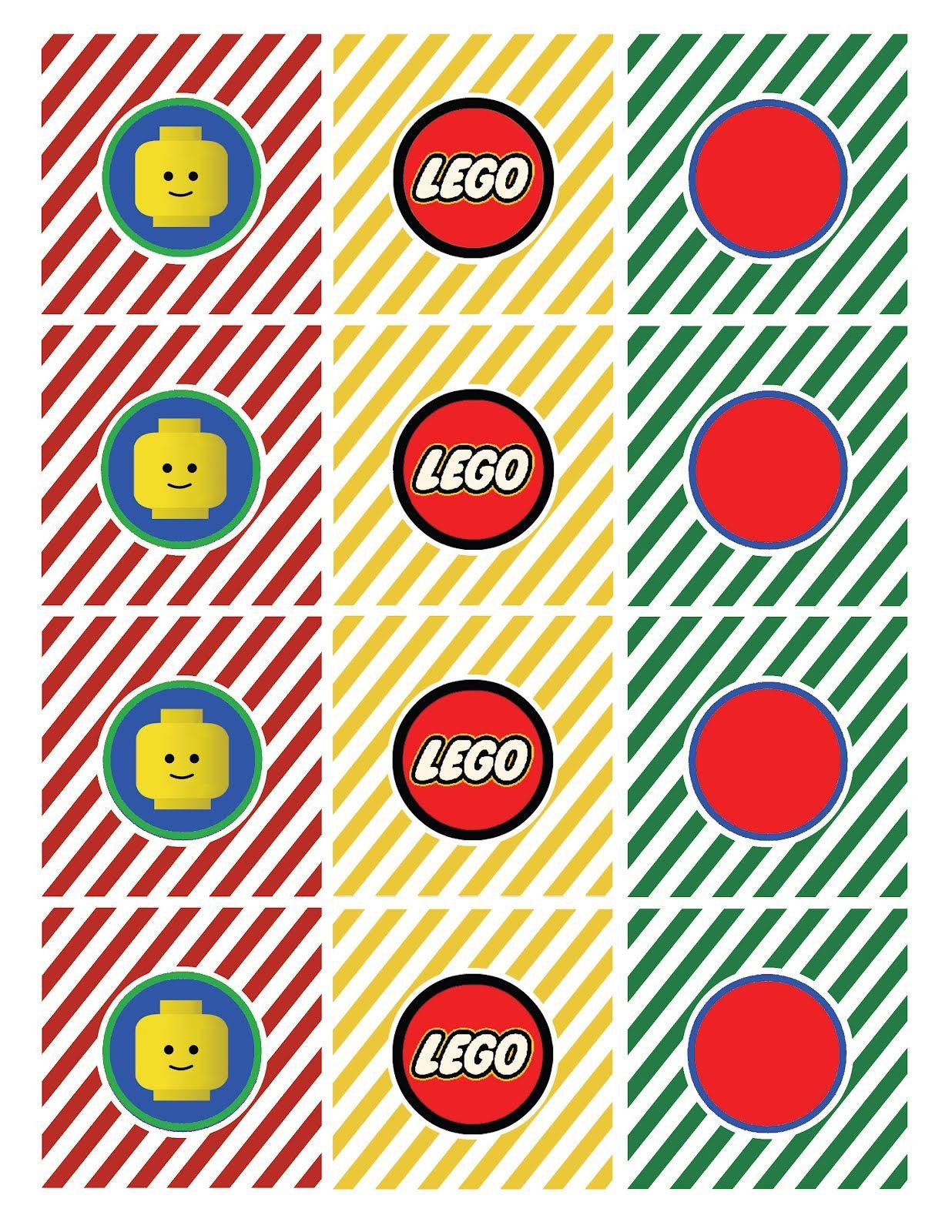 Free Lego Printables   Lego Straw Flag Says Drink Me Lego Tented - Free Printable Lego Cupcake Toppers