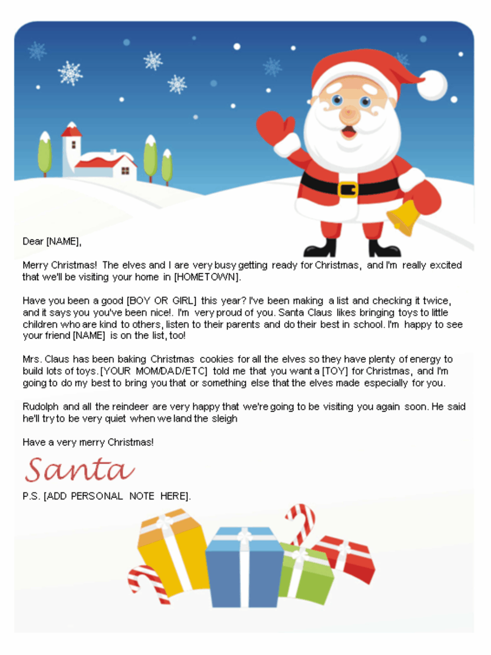 Free Letters From Santa | Santa Letters To Print At Home - Gifts - Free Printable Christmas Letters