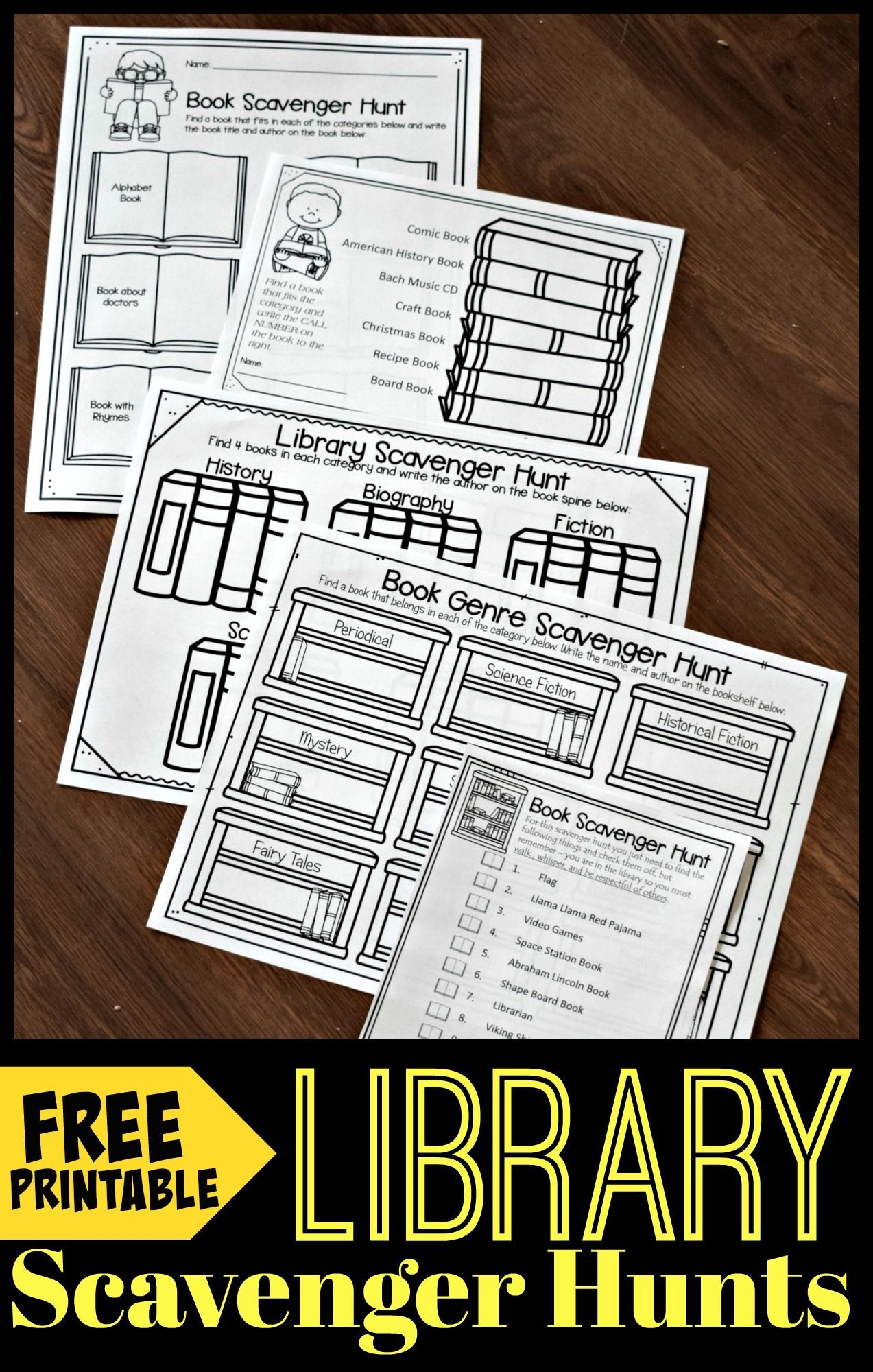 Free Library Scavenger Hunt | Www.123Homeschool4Me | Library - Free Library Skills Printable Worksheets