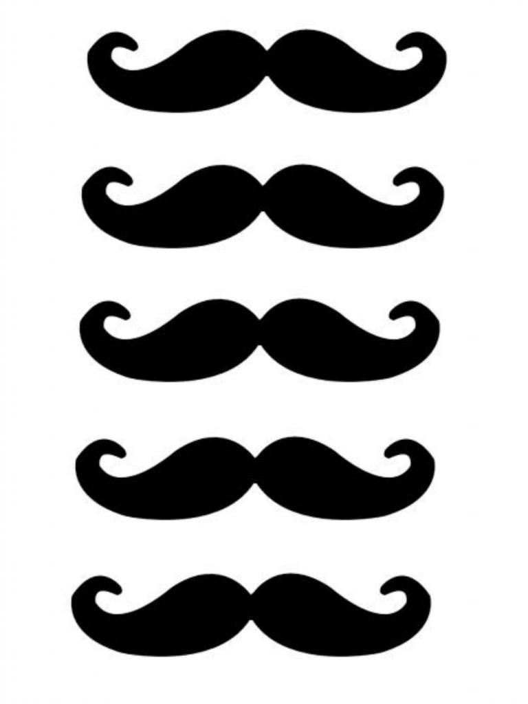 Free Lip And Mustache Printables: Photo Booth Props | Crafts - Free Printable Mustache
