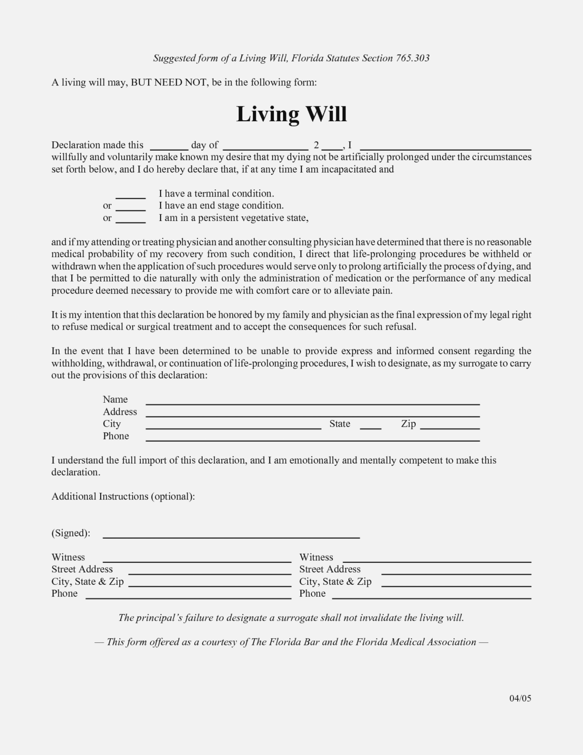 Free Living Will Forms To Print Elegant Best S Of Template Printable - Free Printable Living Will
