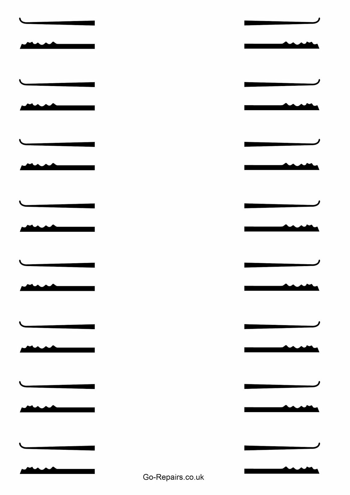 Free Lockpick Template For You To Download.   Lock Picks   Templates - Free Printable Lock Pick Templates