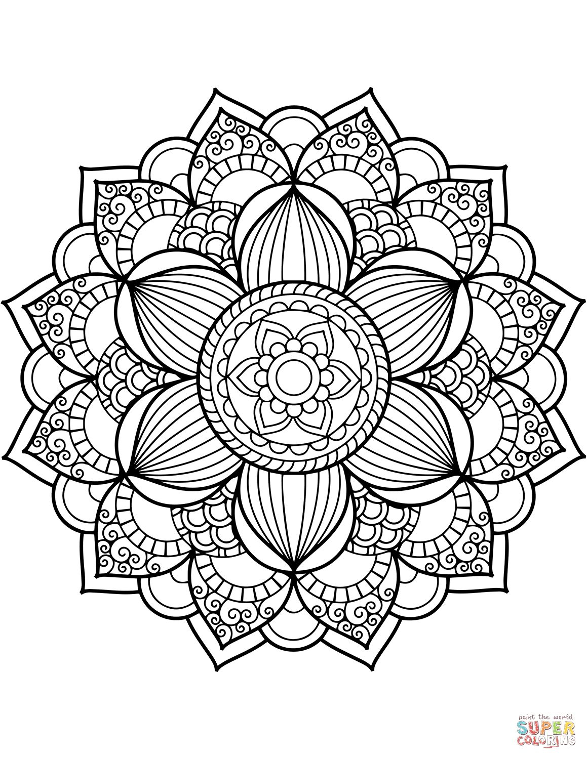 Free Mandala Coloring Pages To Print Printable Adults Colouring - Mandala Coloring Free Printable