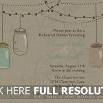 Free Mason Jar Wedding Invitation Printable   Natashamillerweb   Free Mason Jar Wedding Invitation Printable Templates