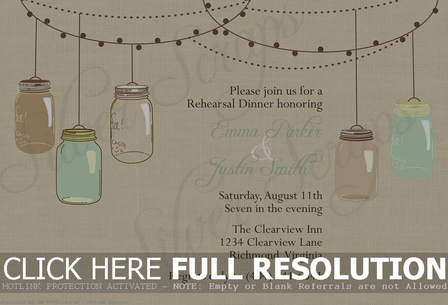 Free Mason Jar Wedding Invitation Printable - Natashamillerweb - Free Mason Jar Wedding Invitation Printable Templates