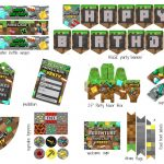 Free! Massive Minecraft Printable Party Pack   Clean Eating With Kids   Free Printable Minecraft Cupcake Toppers And Wrappers
