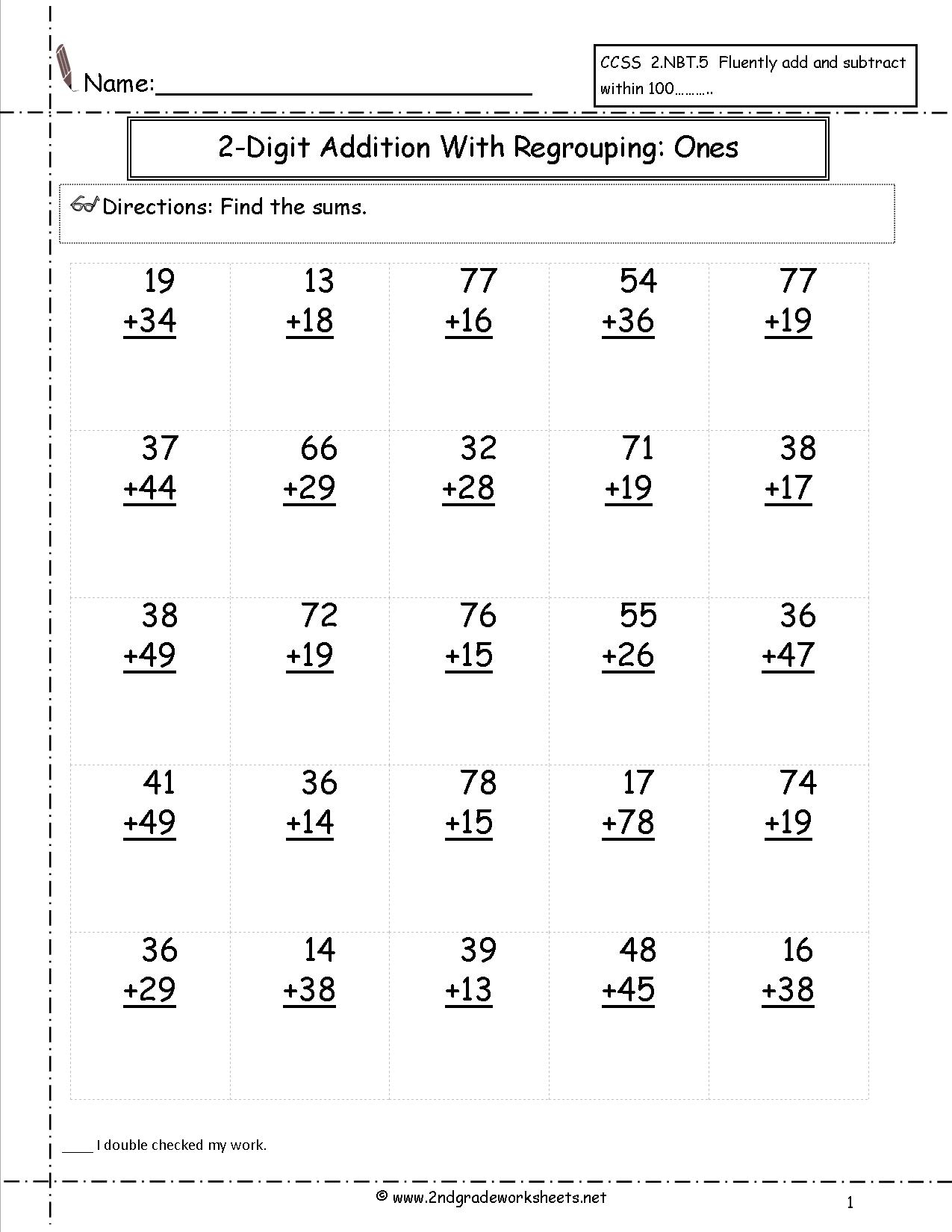 Free Math Worksheets And Printouts - Free Printable Addition Worksheets