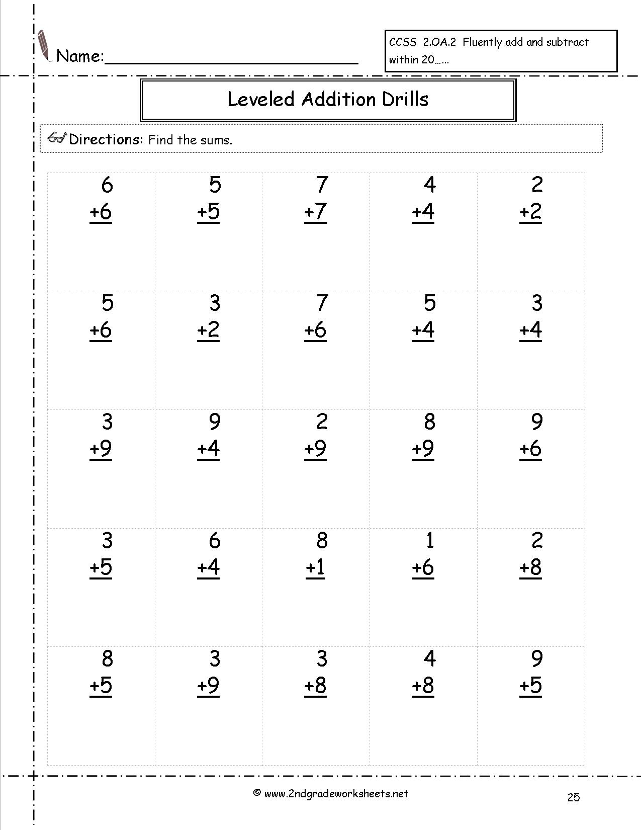 Free Math Worksheets And Printouts - Free Printable Math Worksheets Addition And Subtraction